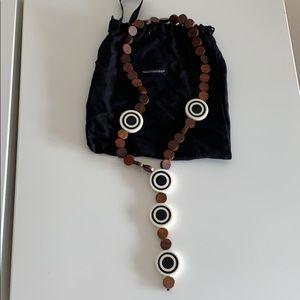 Marimekko natural wood necklace